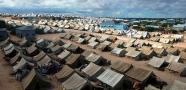 Refugee Camp İn Somalia - Stock Image